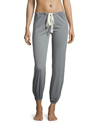 Eberjey Earl Drawstring Lounge Pants Smoked Blue