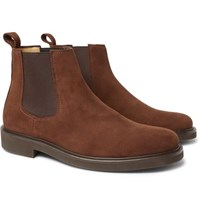 A.P.C. Simeon Suede Chelsea Boots Brown