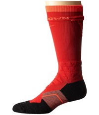 Nike 2.0 Elite Vapor Crew Fade Football University Red University Red Bright Crimson Crew Cut Socks Shoes Orange