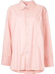 Marni Back Button Detail Classic Shirt Pink And Purple