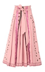 Temperley London Poppy Field Skirt Pink