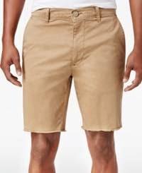 American Rag Men's Stretch Twill Shorts Only At Macy's Dull Gold