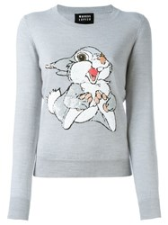 Markus Lupfer Sequined Rabbit Jumper Grey