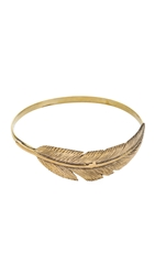 Sunahara Malibu Feather Wrap Bangle Bracelet Gold