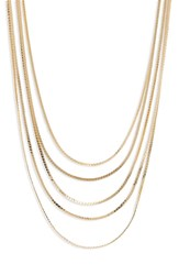 Panacea Canvas Jewelry Multi Chain Necklace Gold