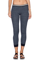 Monrow Side Stripe Thermal Slub Legging Blue
