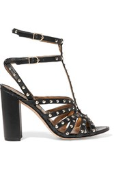 Sam Edelman Yadria Studded Leather Sandals Black