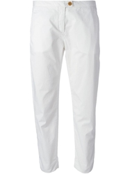 Woolrich Cropped Trousers White