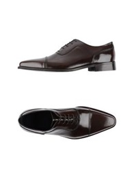 Rochas Lace Up Shoes Brown