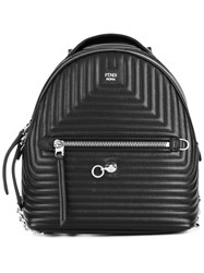 Fendi Mini Quilted Backpack Black