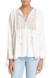 Women's Apiece Apart 'Capellina' Eyelet Yoke Tunic