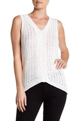 Michael Stars V Neck Surplice Back Knit Tank Beige