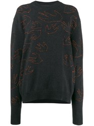 Mcq By Alexander Mcqueen Embroidered Jumper Black