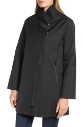 Trina Turk Tenley Asymmetrical Collar Coat Black