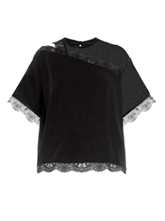 Christopher Kane Lace Trim Short Sleeved Top