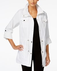 Styleandco. Style And Co. Hooded Anorak Jacket Only At Macy's Bright White