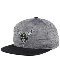 Mitchell And Ness Charlotte Hornets Space Knit Snapback Cap Gray Heather