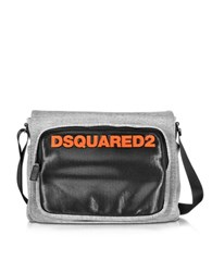 Dsquared Antony Black And Gray Fabric Messenger Bag Multicolor