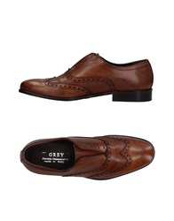 Daniele Alessandrini Grey Lace Up Shoes Brown