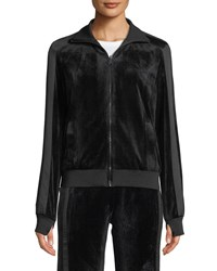 Blanc Noir Zip Front Reversible Posh Track Jacket Black