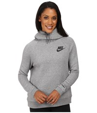 Nike Rally Pullover Hoodie Carbon Heather Dark Grey Black Women's Sweatshirt Gray
