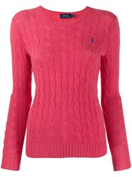 Polo Ralph Lauren Cable Knit Long Sleeve Jumper Red
