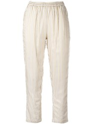 Mes Demoiselles Cropped Trousers White