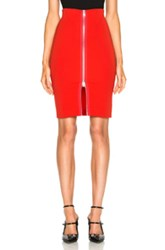 Givenchy Zip Front Skirt In Red