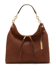 Vince Camuto Avin Chain Link Strap Leather Hobo Brandy