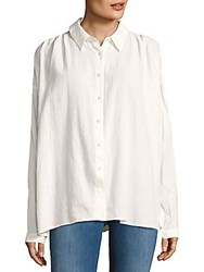 The Jetset Diaries Morning Swim Cotton Casual Button Down Shirt Ivory