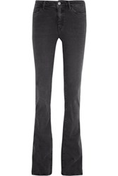 Mih Jeans M.I.H Marrakesh Mid Rise Flared Charcoal