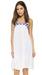Sundress Ariel Short Beach Dress White Royal Blue