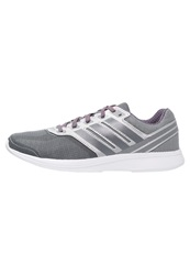 Adidas Performance Lite Pacer 3 Lightweight Running Shoes Mid Grey Core Black Solar Orange