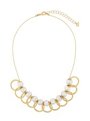 Dsquared2 Overlapping Hoop Necklace Metallic