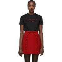 Miu Miu Black 'We Can't Always Be Nice Girls' T Shirt