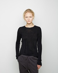 Forme D'expression Reversible Ribbed Pullover Black