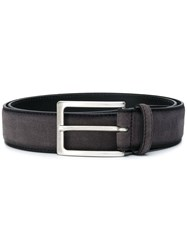 Hugo Boss Classic Rectangular Belt Grey