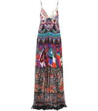 Roberto Cavalli Long Patterned Dress Multicoloured