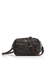 M Z Wallace Mz Crosby Small Nylon Crossbody Black Silver