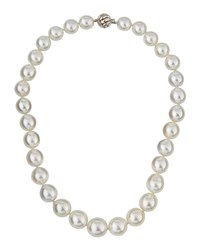 Belpearl 14K Graduated White South Sea Pearl Necklace Women's