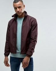 Esprit Light Weight Jacket With Concealed Hood Bordeaux Red