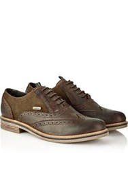Barbour Redcar Oxford Brogues Chocolate