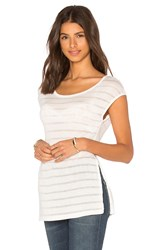 Bella Luxx Side Slit Tee White