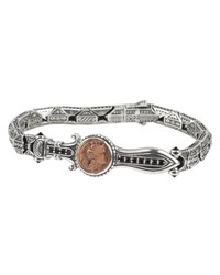 Konstantino Men's Sterling Silver And Copper Bracelet W Spinel