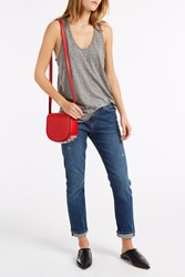 Rta Denim Allison Destroy Tank Top Grey