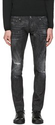 Dsquared2 Black Micro Studded Clement Jeans