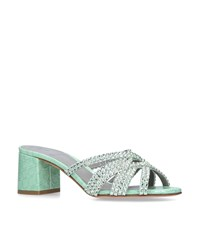 Gina Embellished Dexie Mules 50 Green