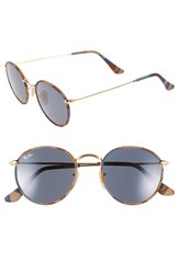 Women's Ray Ban Camo Print Round 50Mm Sunglasses Brown Blue