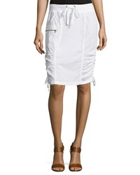 Xcvi Laelia Ruched Pencil Skirt White