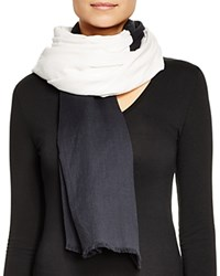 Dkny Pure Eclipse Color Block Cotton Scarf Black